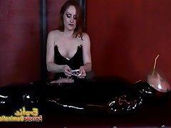 Face Sitting Femdom Handjob Latex Mistress