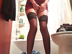 Lingerie, Stockings, Pissing