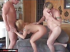 Anal, Blonde, Blowjob, Double Penetration