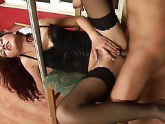 Blowjob Brunette Cumshot Small Tits Party