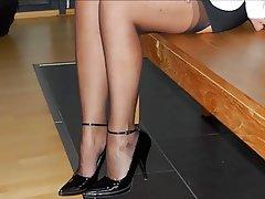 Cuckold Granny Pantyhose High Heels