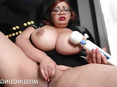 Asian BBW Big Boobs Masturbation