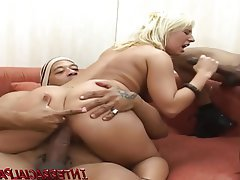 Blonde Interracial Double Penetration Big Cock Black