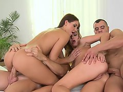 Teen Foursome Party Orgy