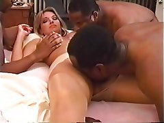 Blonde Creampie Interracial Cuckold Gangbang