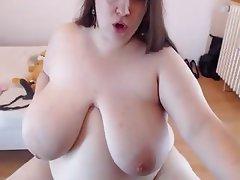 Webcam Amateur BBW Masturbation Saggy Tits