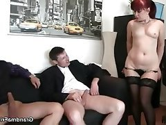 Mature MILF Old and Young Granny Threesome