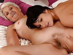 Hairy Lesbian Mature Old and Young Granny