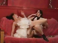 Babe Lesbian Lingerie Strapon