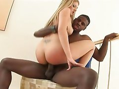 Babysitter Blonde Facial Interracial