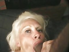 Anal Blowjob Cumshot Granny
