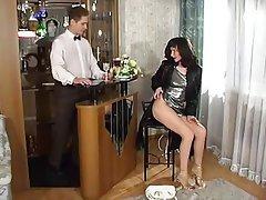 Anal Brunette Russian Stockings