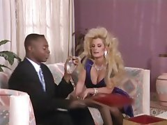 Blonde, Blowjob, Interracial
