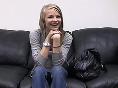 Amateur Blonde Casting Nudist Office