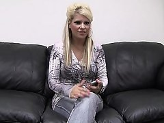 Amateur Blonde Casting Office POV