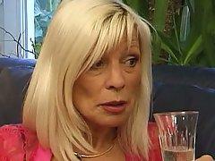 Facial cum blonde mature granny