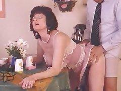 Cumshot Lingerie Mature MILF