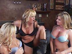 Lesbian, Threesome, MILF, Blonde