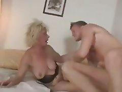 Blowjob Cumshot Czech Granny Old and Young