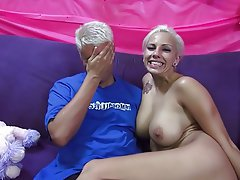 Babe Big Boobs Blonde Blowjob