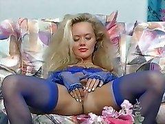 Blonde, German, Masturbation, Pornstar