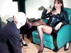 BDSM Femdom Foot Fetish Latex Stockings