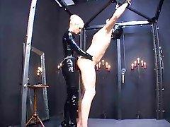 BDSM Blonde Femdom Latex Strapon