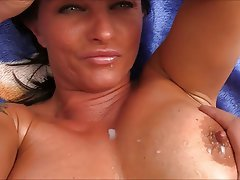 Milf oiled busty mature