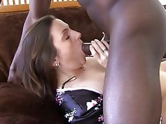 Blowjob Brunette Interracial Mature