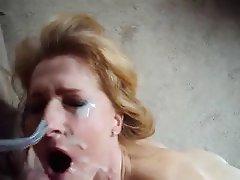 mature amateur facial
