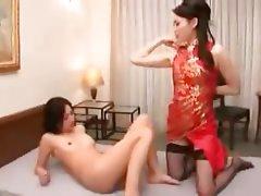 Japanese Lesbian Strapon