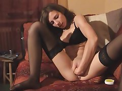 Amateur Brunette German Stockings