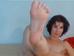 Brunette Foot Fetish MILF Webcam