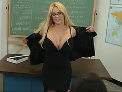 Blonde Blowjob Glasses MILF