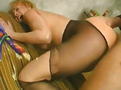Blonde Hardcore MILF Stockings