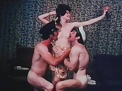 Vintage Group Sex Double Penetration Threesome Softcore