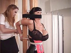 Babe BDSM Latex Vintage