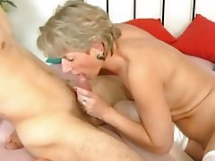 Blonde Cumshot Old and Young Blowjob
