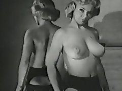 Big Boobs Blonde Lingerie Stockings Vintage