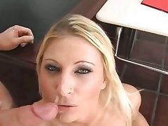 Cumshot Facial Interracial MILF Threesome