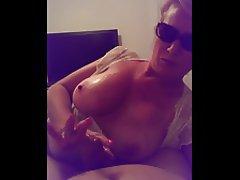 Big Boobs Blonde Cumshot Handjob MILF
