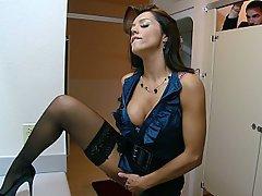 Brunette Stockings Big Tits Lingerie