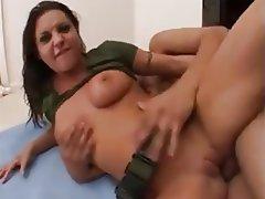 Brunette, Cumshot, Double Penetration, Pornstar, Threesome