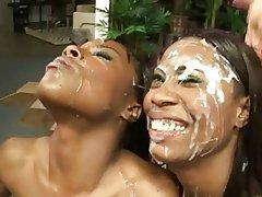 african girl cum face
