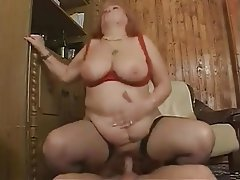 BBW Big Boobs Facial Granny