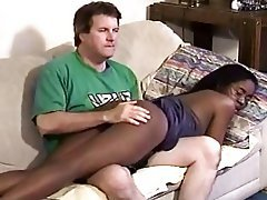 Interracial Old and Young Spanking
