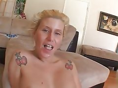 Blonde Cumshot Interracial MILF Pornstar