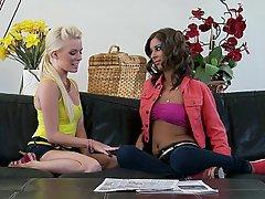 Blonde Brunette Lesbian Skinny Teen