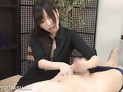Amateur Asian Babe Cumshot Handjob