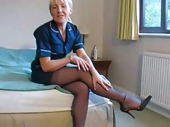 In stockings mature British
